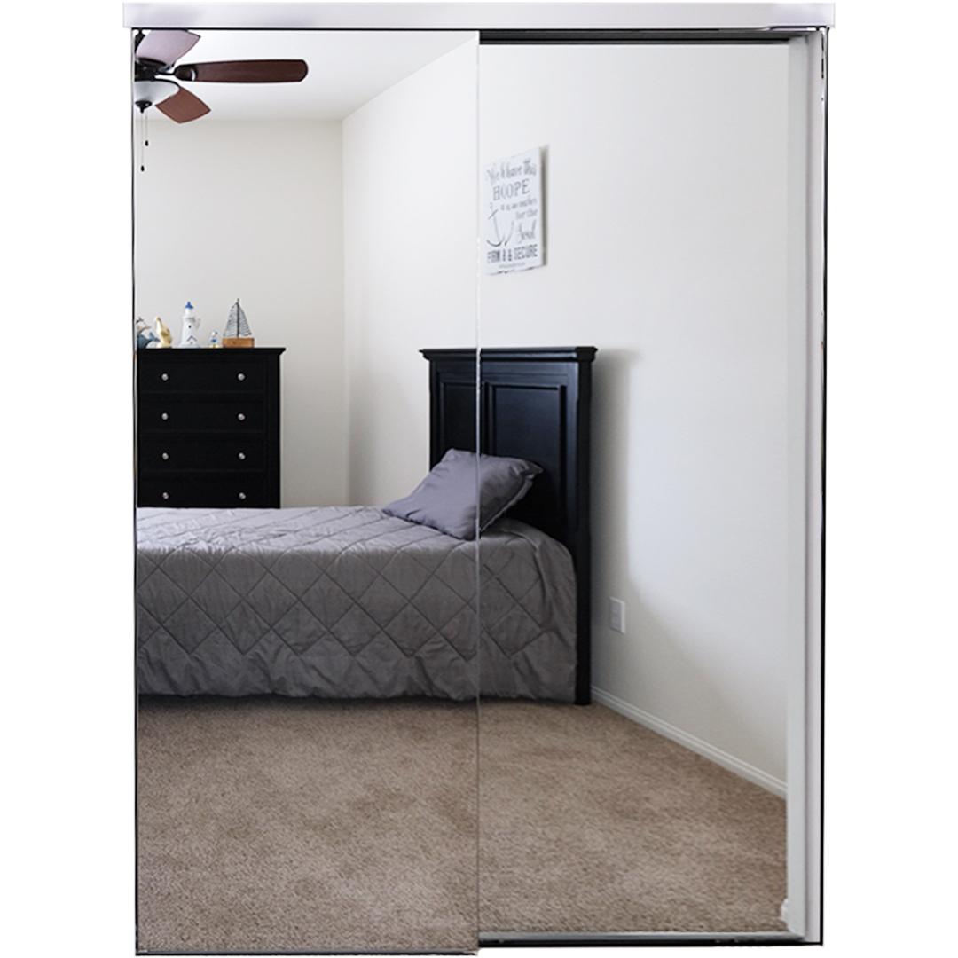 Steel Closet Mirror Door